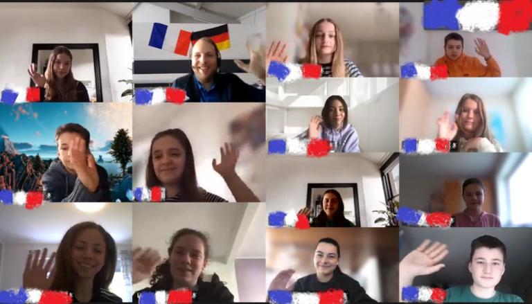 Digitaler Frankreich-Austausch
